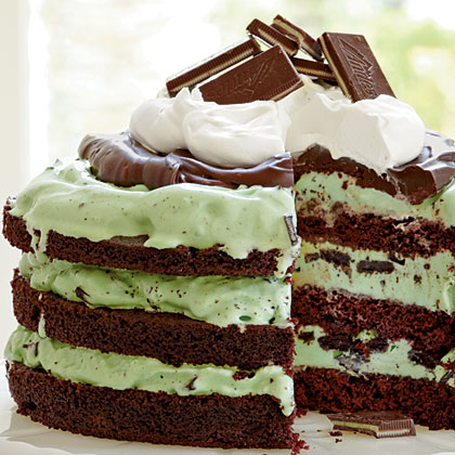 Lets Make It: Mint Chocolate Chip Ice Cream Cake   Love This?